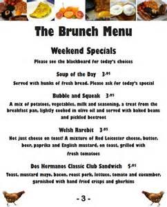 menu for brunch bar dos hermanos american cuban bar
