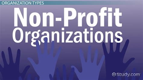 not for profit organizations types exles lesson transcript study