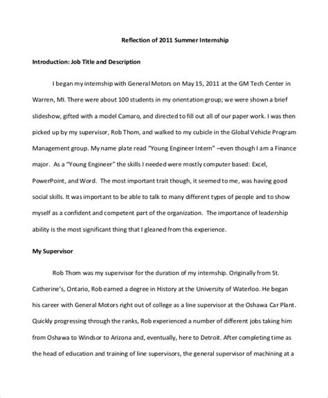 Top Mba Reflective Essay Assistance by Essay Reflection Paper Exles Resume Template Easy