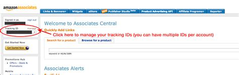 amazon id how to retrieve your amazon associates tracking id