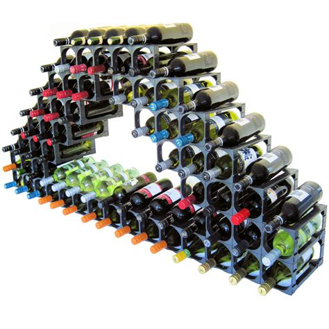 cellarstak 55 60 bottle plastic wine rack black