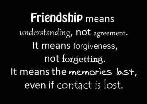 Its is a friendship quote friendship meas understanding not