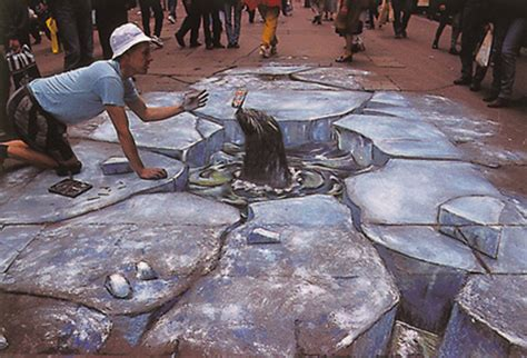3d Floor Paintings by 3d Artworks That Create Optical Illusion On Smashingapps