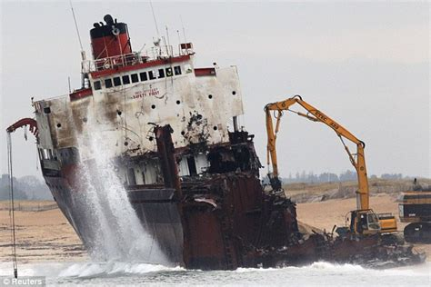 buy a boat in karachi going going gone salvage teams dismantle 330ft cargo