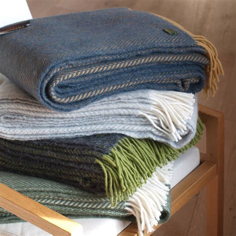 wool coverlet wool throw assorted colours by idyll home