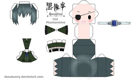 Papercraft World - yui papercraft world ciel phantomhive black butler