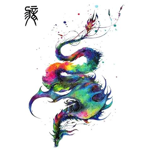watercolor tattoo dragon 55 best tattoos designs collection