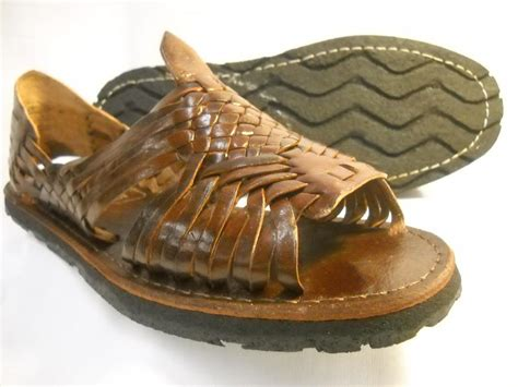 mexican shoes mens leather mexican sandals brown huarache made in mexico
