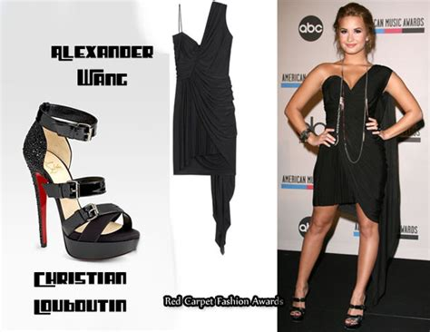 Demi Lovato Closet by In Demi Lovato S Closet Wang Draped Dress