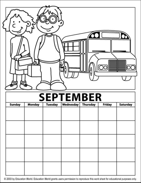 free coloring pages of blank calender