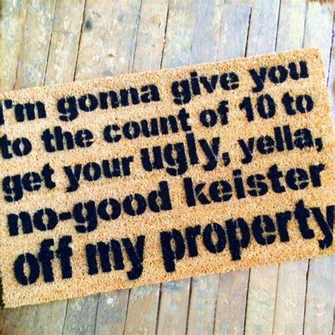welcome mat material the un welcome mat keister doormat handmade materials