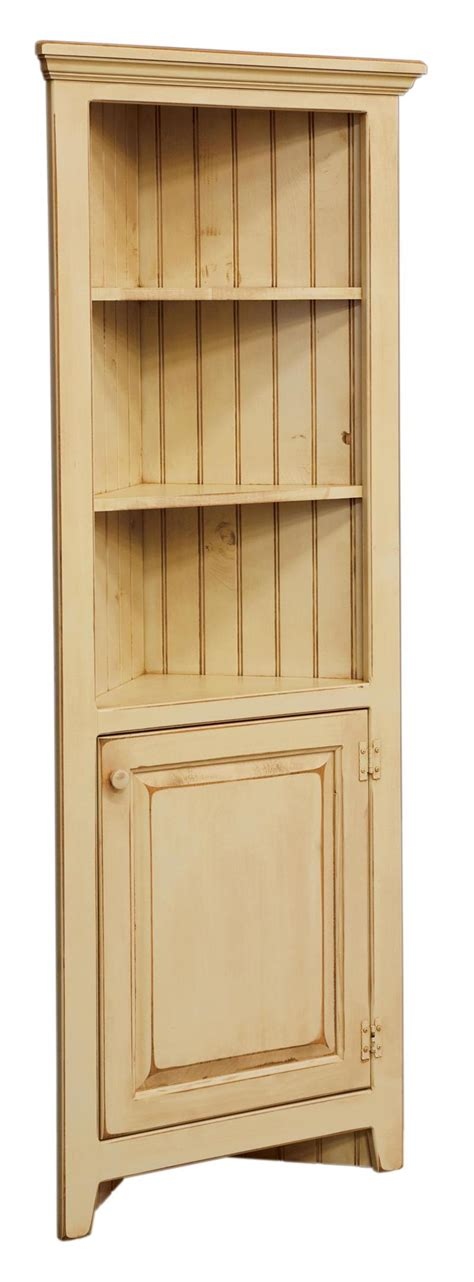 Corner Kitchen Hutch Furniture by Amish 28 Inch Corner Cabinet