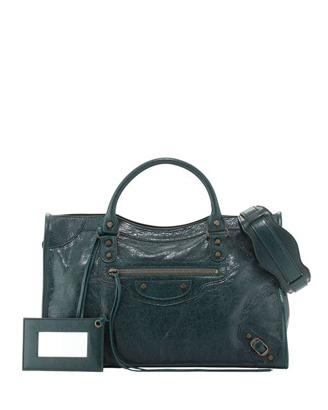And Balenciaga Bag by Balenciaga Classic City Lambskin Tote Bag In Green Lyst