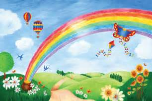 Wall Murals For Kids Large Wall Mural Rainbow In The Parkkid In The Mural