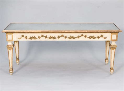 Gilt Coffee Table Painted And Parcel Gilt Coffee Table With Mirrored Top For Sale At 1stdibs