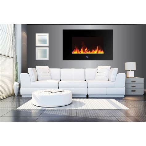 warm house warm house venice 35 in wall mount led electric fireplace with digital display and