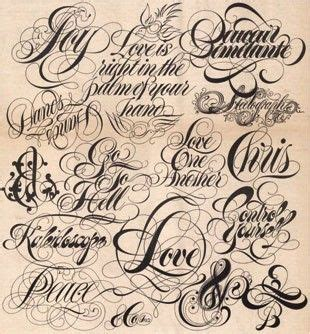 Tattoo Font Embellishments | typographic tattoo fonts types tats pinterest
