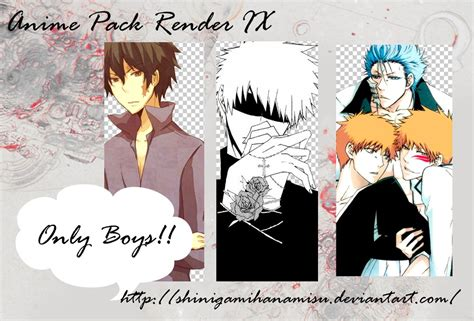 anime boy render pack anime pack render ix boys by shinigamihanamisu on deviantart