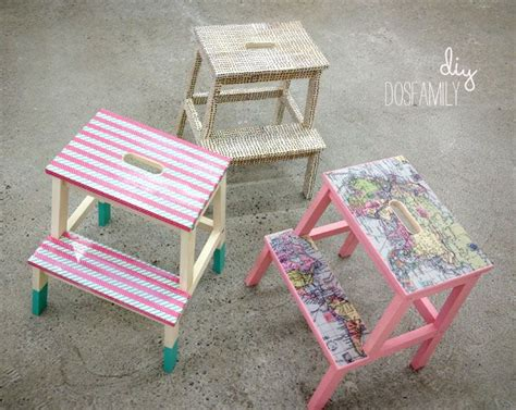 ikea hack colourful step stool with washi tape petit bout de chou best 20 washi tape furniture ideas on pinterest dipped