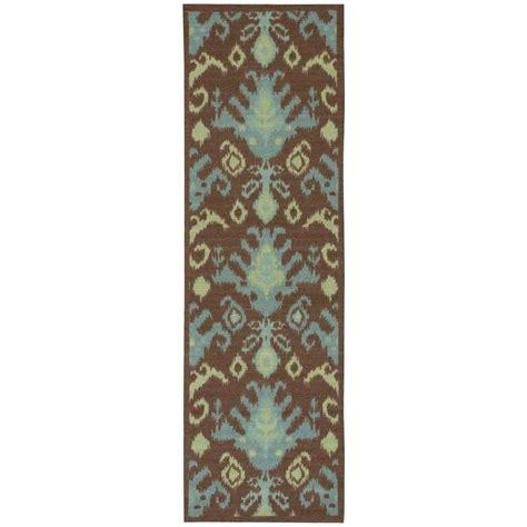 overstock runner rugs nourison overstock vista chocolate 2 ft 6 in x 8 ft rug runner 137883 the home depot