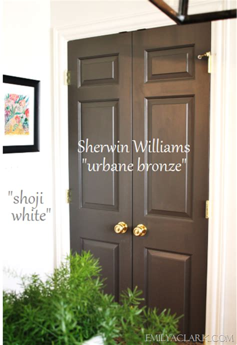 Sherwin Williams Turkish Coffee painting the pantry doors emily a clark