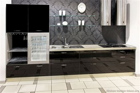 Modern Kitchen Countertops And Backsplash by Pictures Of Kitchens Modern Black Kitchen Cabinets
