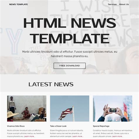 bootstrap templates for news free bootstrap template 2018