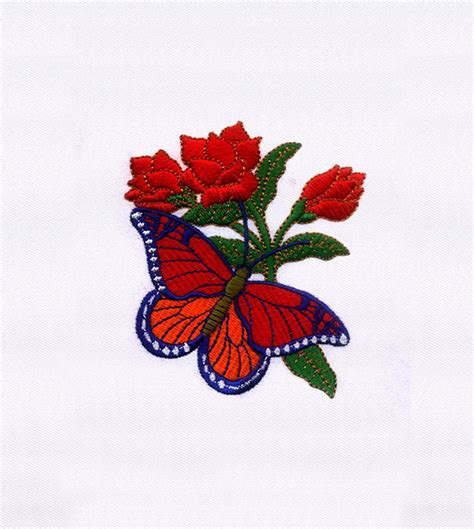 Bv4765ls Embroidery Flower And Butterfly butterfly embroidery design embmall