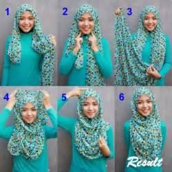 Tutorial hijab untuk wajah bulat menggunakan pashmina