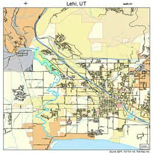 Lehi Utah Map by Lehi Utah Street Map 4944320