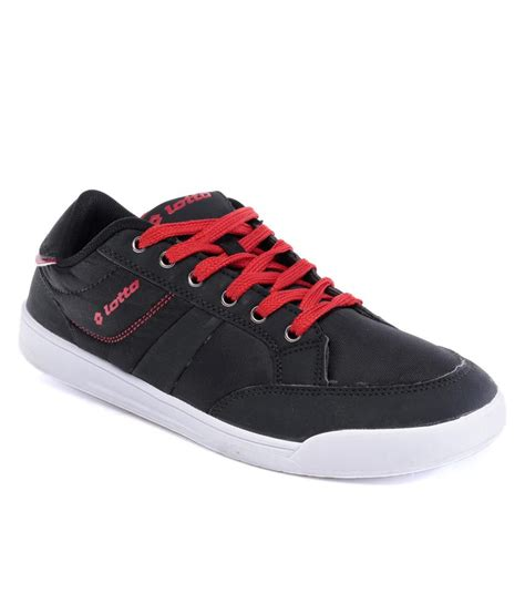 lotto slice black casual shoes price in india buy