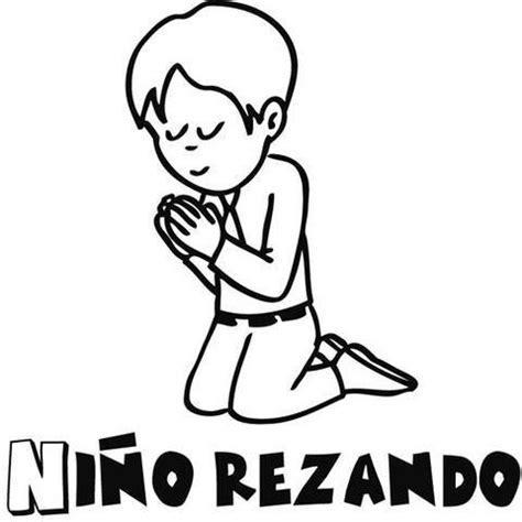 imagenes de ninos rezando para colorear ni 241 o orando para colorear imagui
