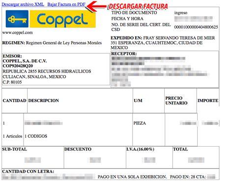 www coppel com mx estado de cuenta coppel facturaci 243 n electr 243 nica tiendas