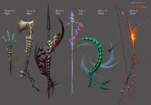 anima bone weapons by wen m on deviantart