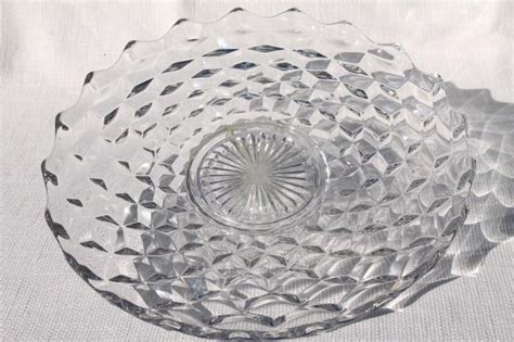 Old Chandeliers For Sale Vintage Fostoria American Torte Or Cake Plate Crystal