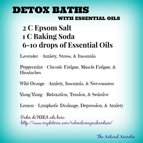 Detox Bath For Cough And Cold by Detox Baths With Doterra Essential Oils Don T Forget To