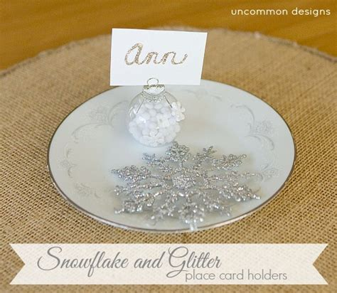glitter placecard holders snowflake and glitter place card holders a simple diy