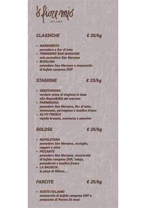 di fiore fotografi prezzi menu e prezzi della pizza al taglio di o fiore