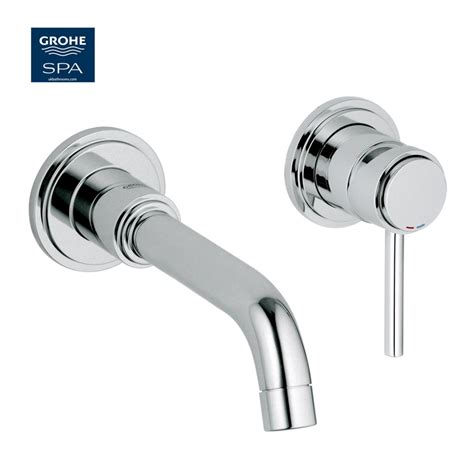 Thermostatic Bath Shower Mixers grohe atrio c spout 2 hole wall mounted basin mixer uk