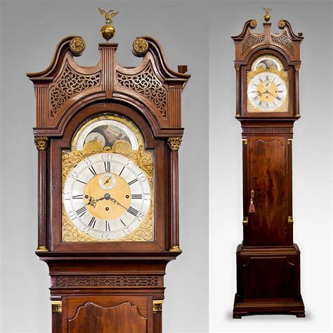grandfather clock antique chiming 8 day longcase clock antique clocks