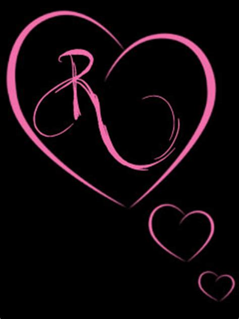 Download R Pink Heart Wallpaper 240x320 | Wallpoper #81890 R Alphabet Love Wallpaper