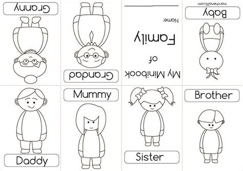 preschool coloring pages my family worksheet for kindergarten about family rainbow word