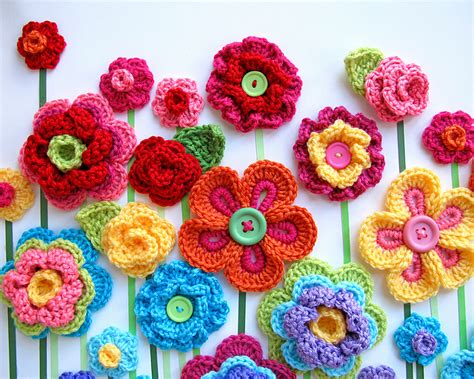 free patterns and on flower hair 10 beautiful crochet flowers to make skip to my lou