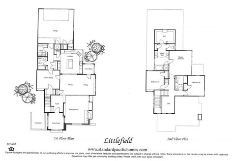 standard pacific homes floor plans standard pacific homes floor plans home plan