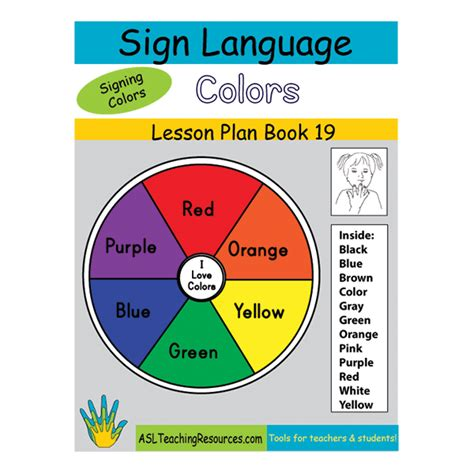 sign language for colors lesson plan book 19 sign language colors asl teaching