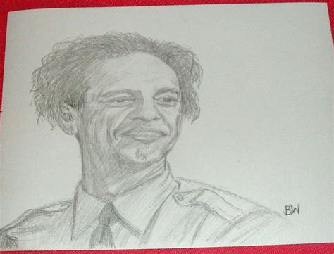 Ppencil Barney the andy griffith show barney fife pencil drawing signed by artist bw