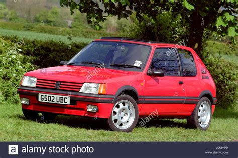 peugeot gti 1990 peugeot 205 gti 1 9 1990 hatch car stock photo
