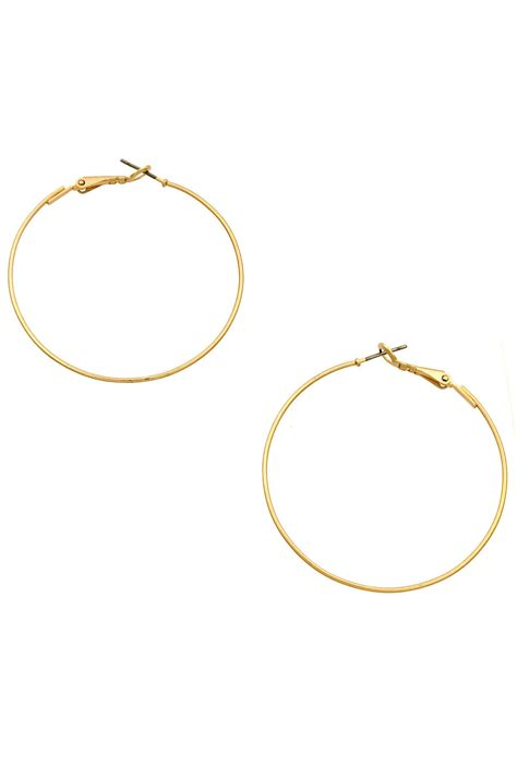 metal hoop earrings 1 3 4 quot metal hoop earrings