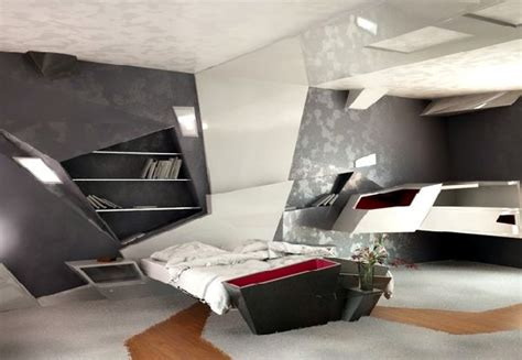 high tech bedroom design futuristic decor home interior and furniture ideas