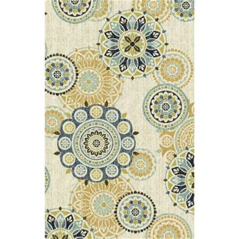 Mohawk Home Medallion Area Rug by Mohawk Home Tumbled Medallion Cool 6 Ft 6 In X 10 Ft